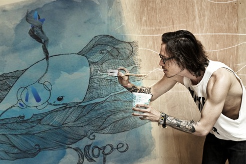 Hurley and brandon boyd go green m i s h g u i d e d for Brandon boyd mural